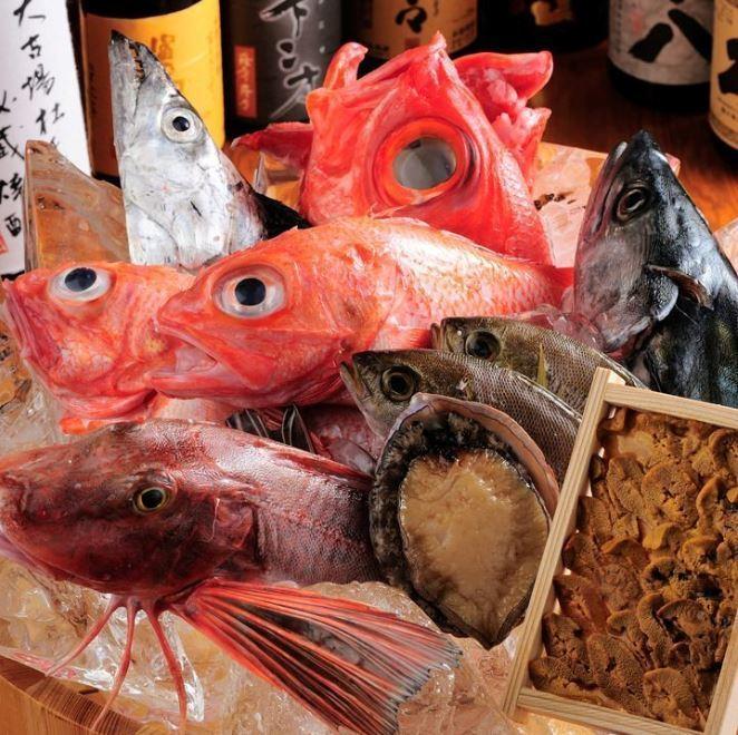 從每個漁港直接送來的新鮮材料