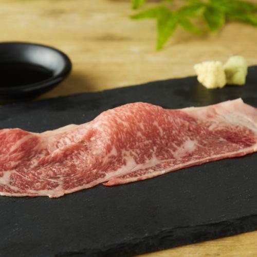"""""""国産牛の肉笑門サーロイン""""肉寿司◎"""