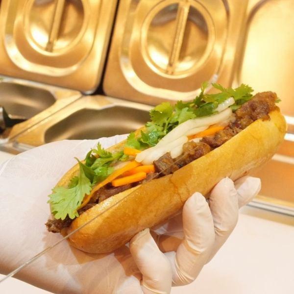 【嚴肅地傳遞越南的味道◇】在越南,它作為獨立的銷售或替代台梯從易於食用,良好的移動性廣泛銷售,它是越南最受歡迎的快餐。請品嚐正宗的味道!