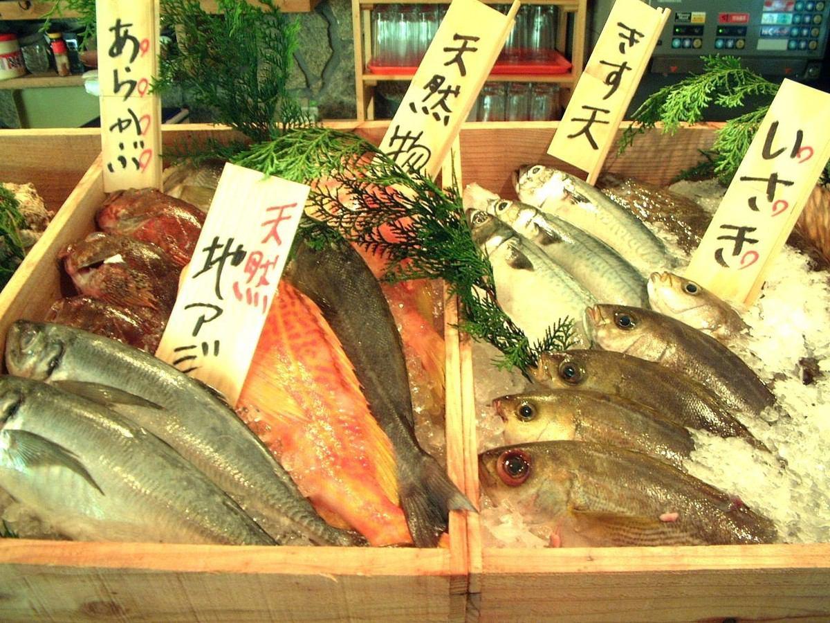 市場直接新鮮的魚和蔬菜可以享受♪如果您正在尋找新鮮的食物來我們的店
