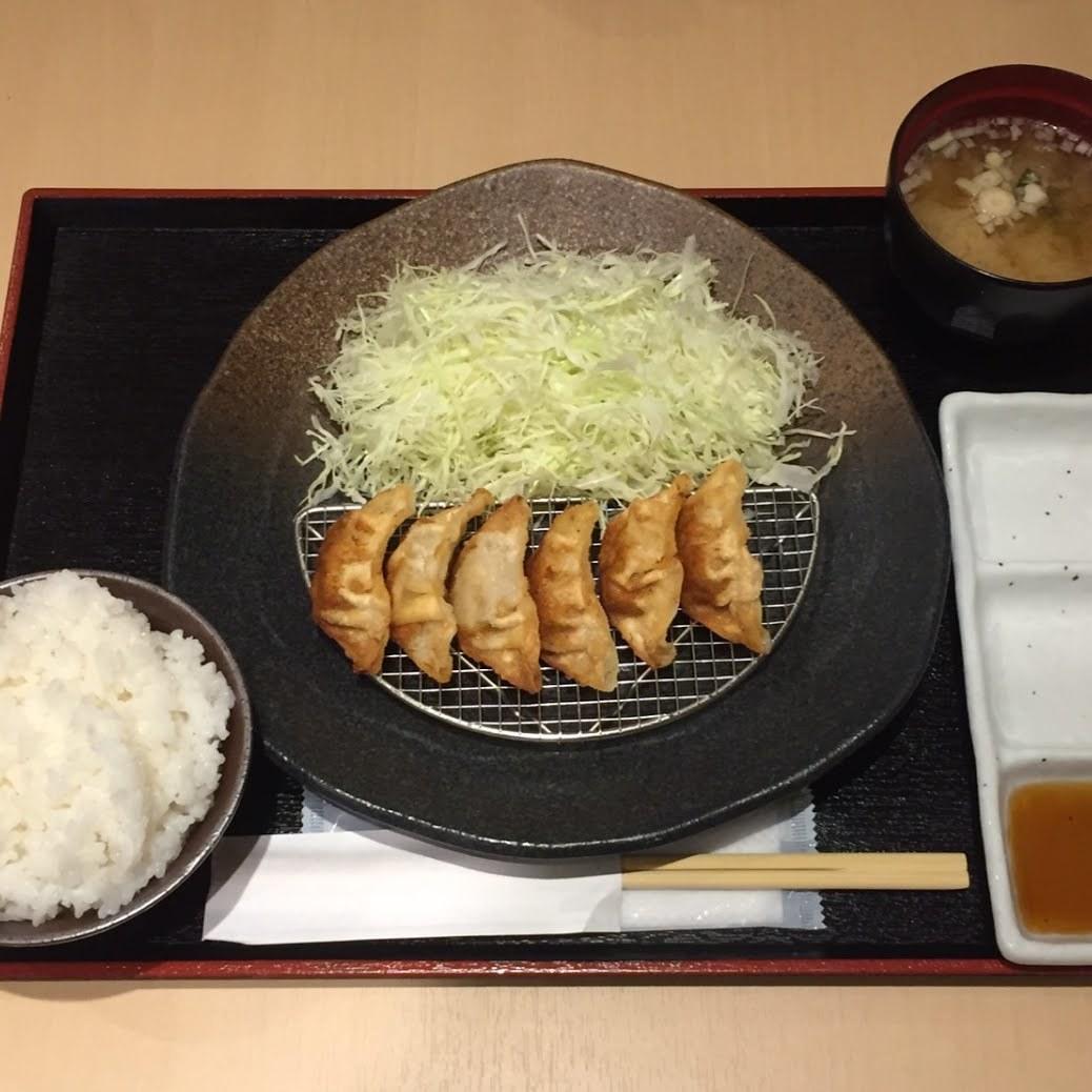 揚げ餃子定食