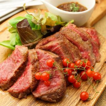 日本國內牛肉牛排午餐套餐★980日元+土豆,沙拉,飲料☆