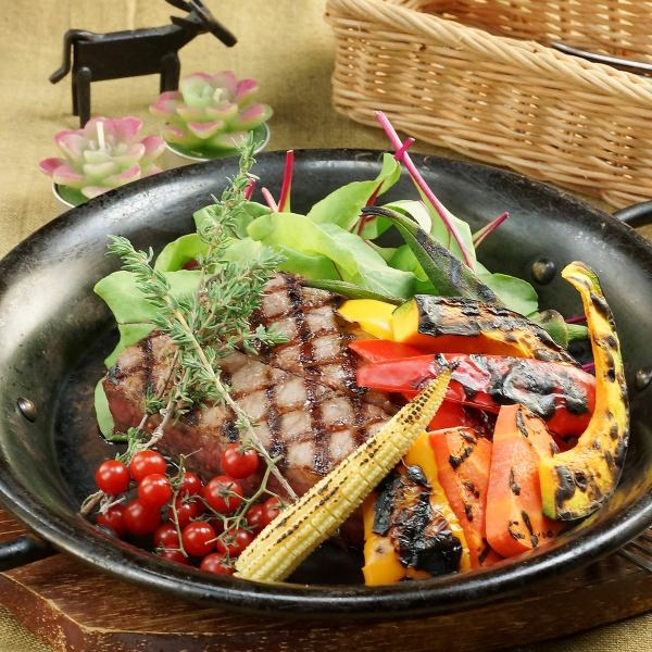 «All day OK» ★ 2 hour eating and drinking ★ Cow rare grill steak · fish · bar menu etc. ◆ 77 items ◆ 3240 yen ⇒ 2700 yen ★
