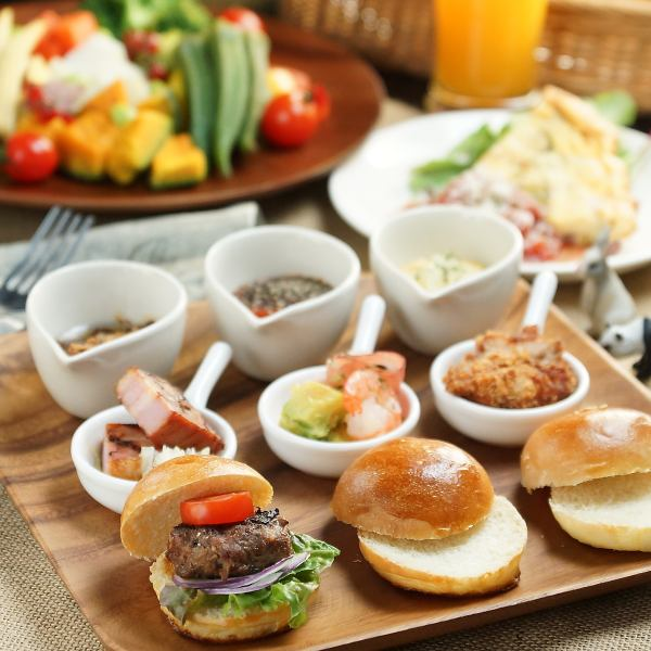 For lunch, handmade buns are your favorite hamburger lunch! ◆ 750 yen ~ ◆