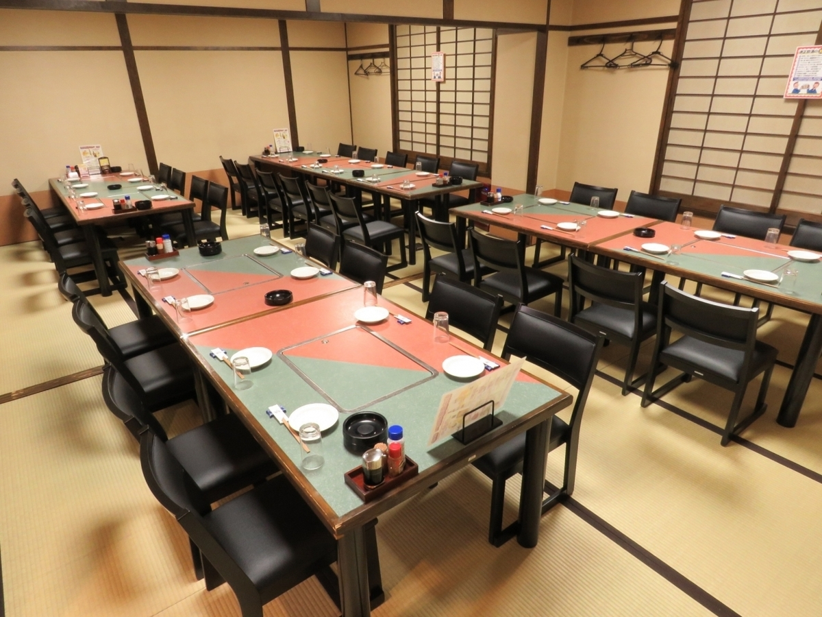 """【Significantly renewed from the """"Ozakiki"""" banquet hall to the """"High seat chair"""" banquet hall!】 The 2nd floor has 2 rooms for 20 people 's room.Up to 40 people can join together for banquet OK!"""
