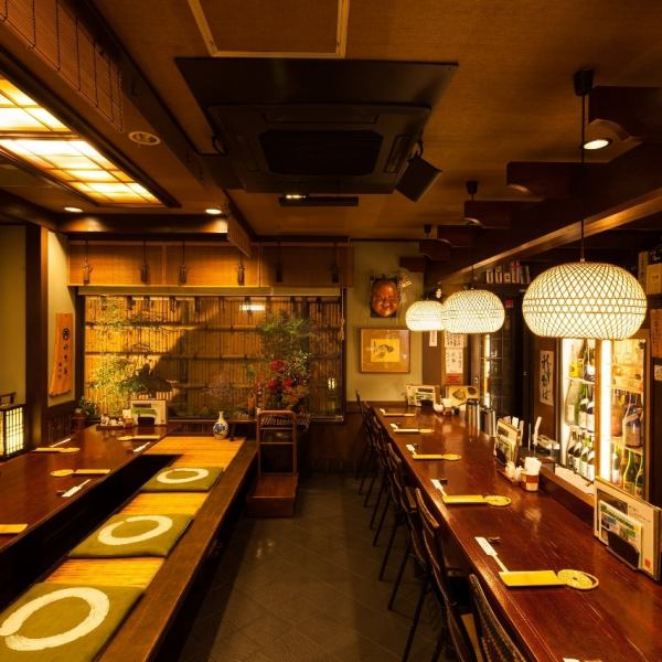 Hori Gatsu, which can be used up to 10 people, accommodates various banquet scenes such as the New Year's party and welcome party.The private rooms are also fully equipped so you can calm down and enjoy your meals.