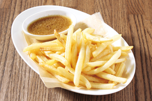 Potato fry with anchovy sauce