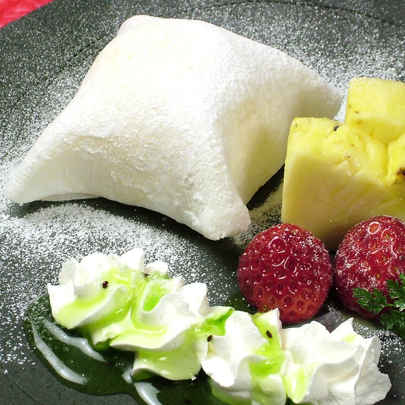Yukimi Daifuku量身定制的水果包括在内