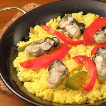 牡蠣のパエリア