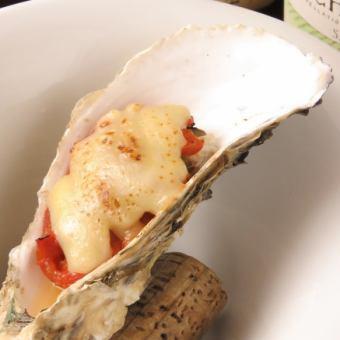 牡蠣のオーブン焼き(トマトチーズ)