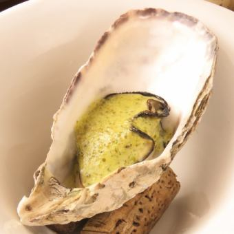 牡蠣のオーブン焼き(バジル)