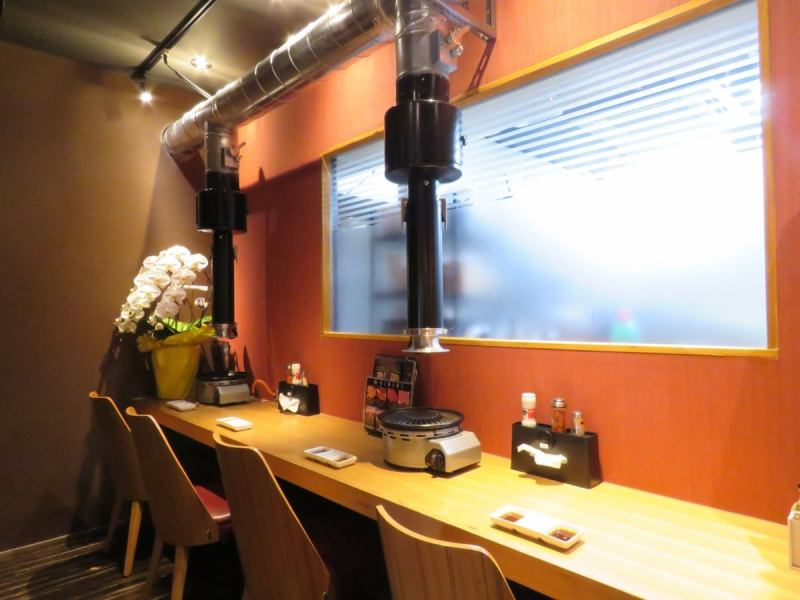 We also have counter seats that you can enjoy with one or two people ★