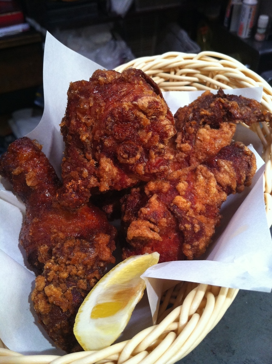 Deep fried chicken with bone