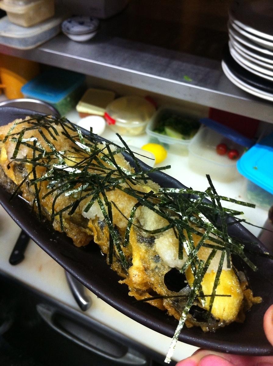 Deep fried eggplant / mino heaven / fried oyster from Hiroshima