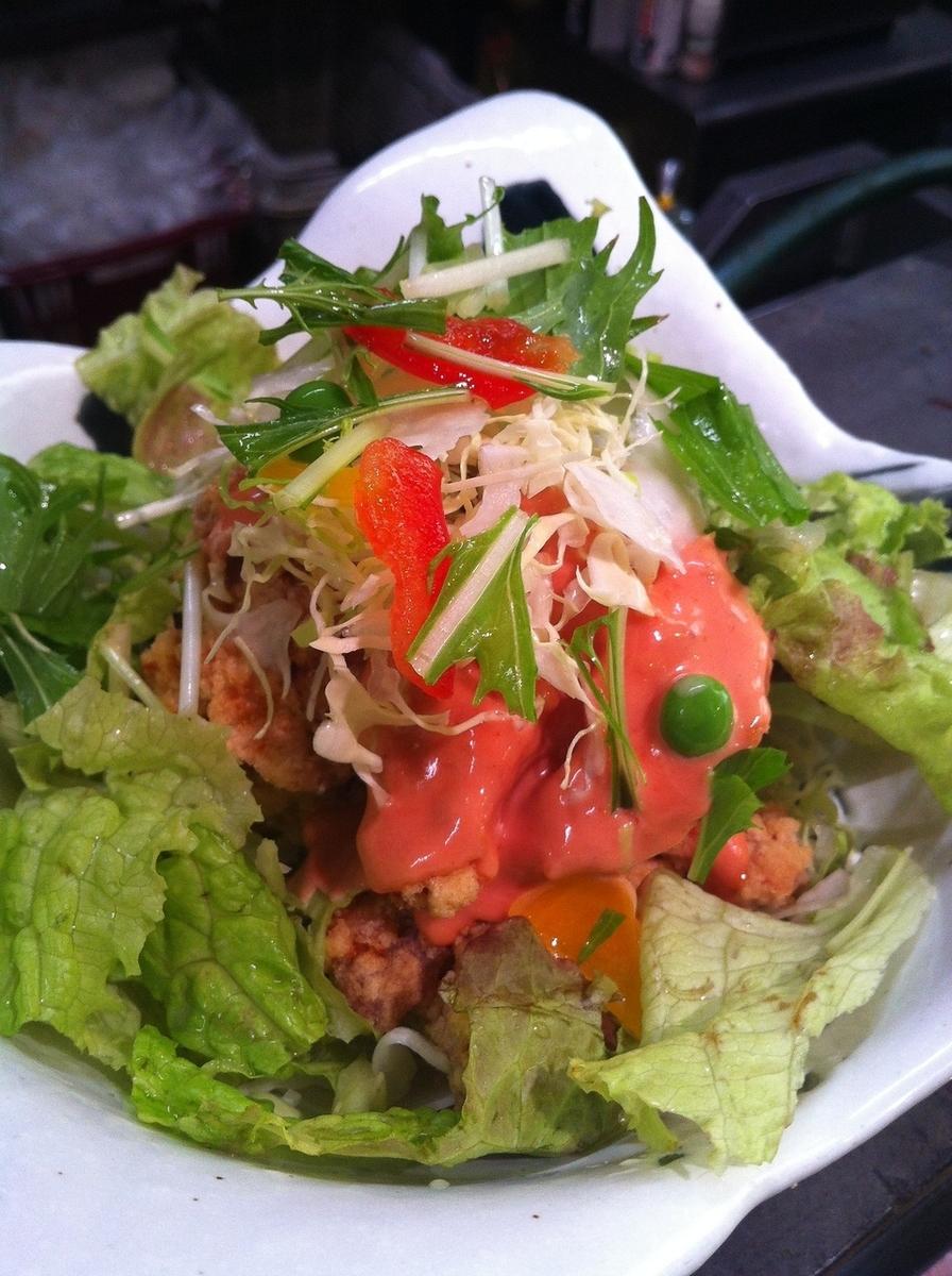 Vegetable salad / Japanese radish salad / tomato salad