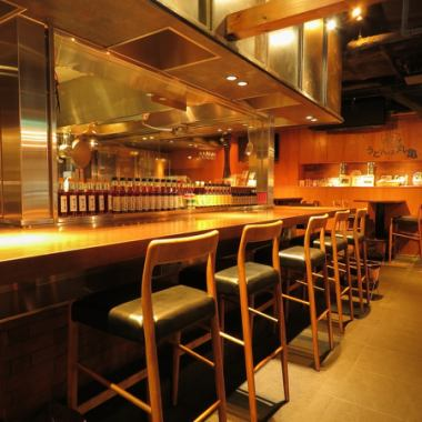 """Counter seat"" Directly connected from Tokyo station, perfect for single person sashi drinking.The compatibility of the sticking sake bought from all over the country with the ingredients of Nishiizu and Marugame is outstanding.Please drop in with your friend or company senior."
