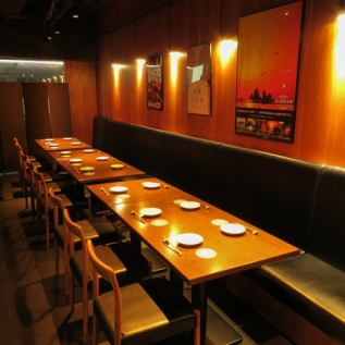 <Semi-private room> A semi-private room for up to 22 people.Ideal for dinner and entertainment, as well as gatherings with friends.The combination of Izu and Marugame ingredients and sake that you can enjoy in a calm atmosphere is outstanding!