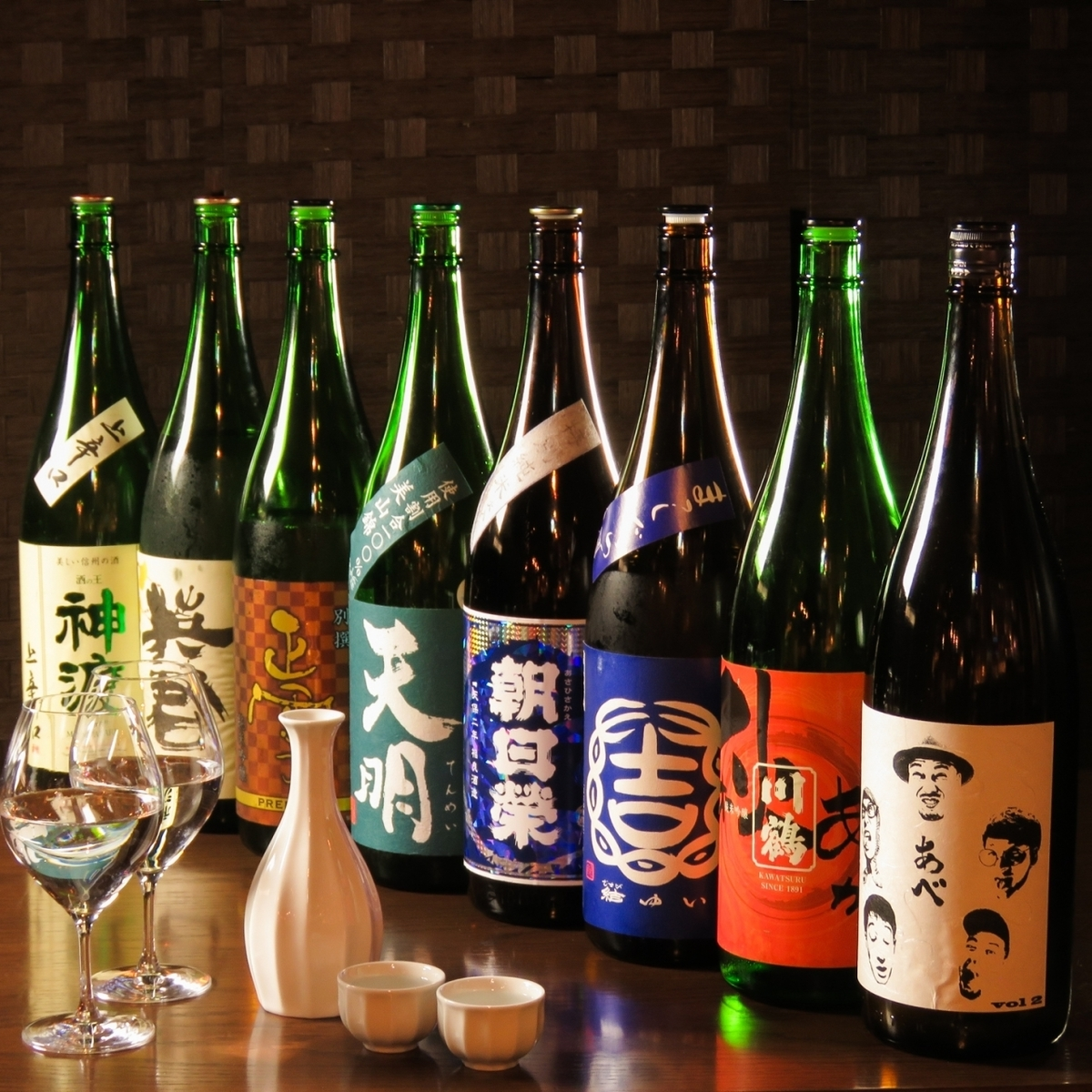 Sake made from all over the country