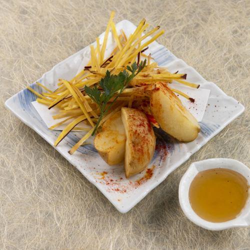 九州薩摩和北海道男爵的陳年馬鈴薯薯條