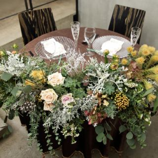 [Bridal image] We can also prepare table seats inspired by a calm adult wedding.☆ Groom / Bride seat