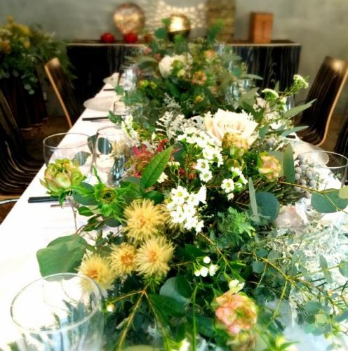 [Bridal image] We can also prepare table seats inspired by a calm adult wedding.☆ Guest seat