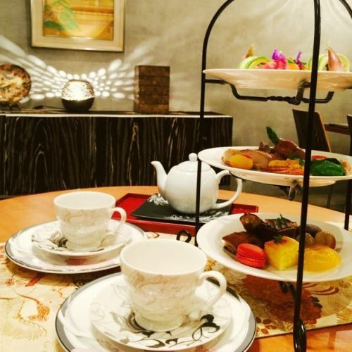 [Limited] Yas Dinner Kaiseki ~ Afternoon Tea Style ~ Glass with champagne (1 person)