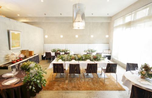 [Bridal image] We will create a gorgeous atmosphere in your room and cooking.