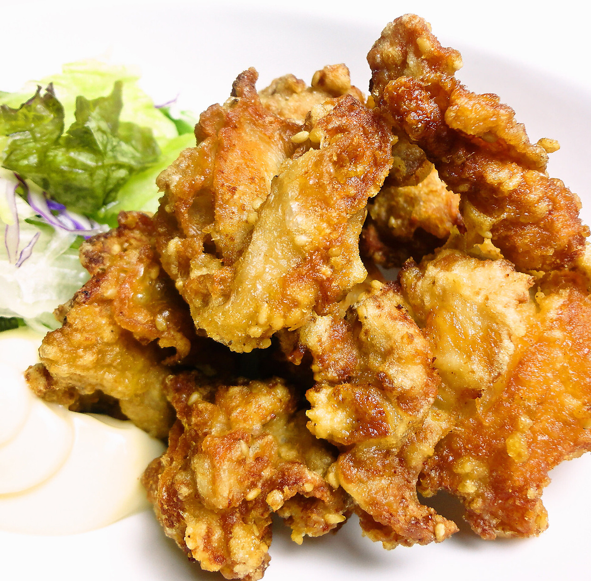 Deep-fried chicken thigh meat