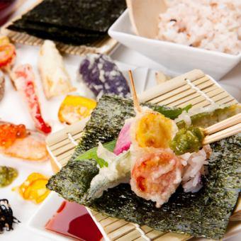 "[Ali] vegetable tempura 8 kinds Kyoto style hand-woven sushi ""special price"""