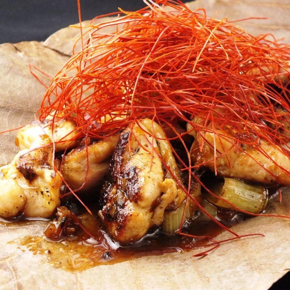 鸡肉和白洋葱切丝酱油