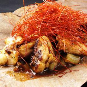 鶏と白ネギの焦がし醤油