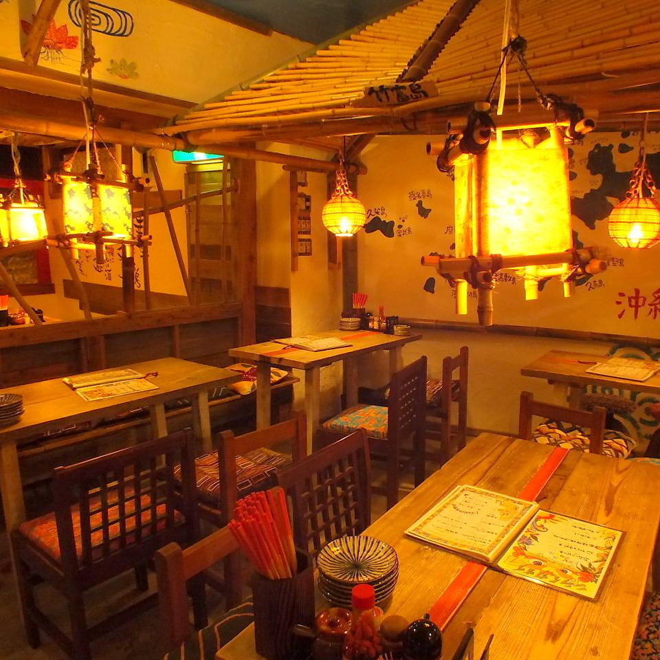 """""""奶奶""""【放大更新】好像我来冲绳的祖母玩♪这是一个温暖的房间。桌座可以从小到大自由重新配置。除了""""奶奶""""整个包机欢迎♪"""