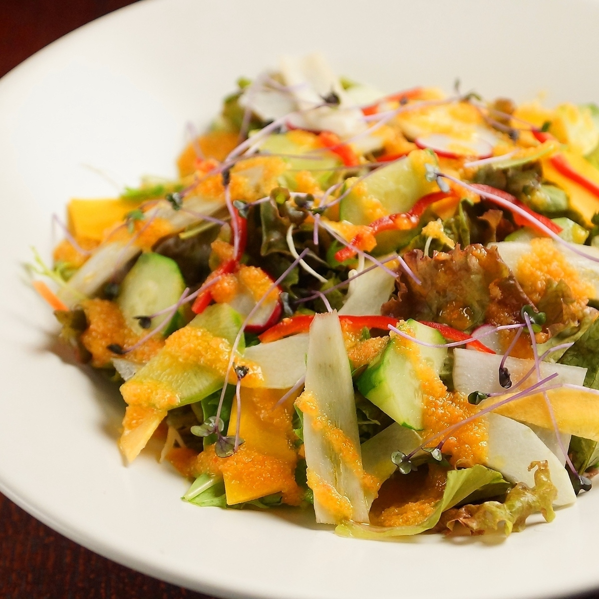 Osaka made vegetables plentiful Marche salad