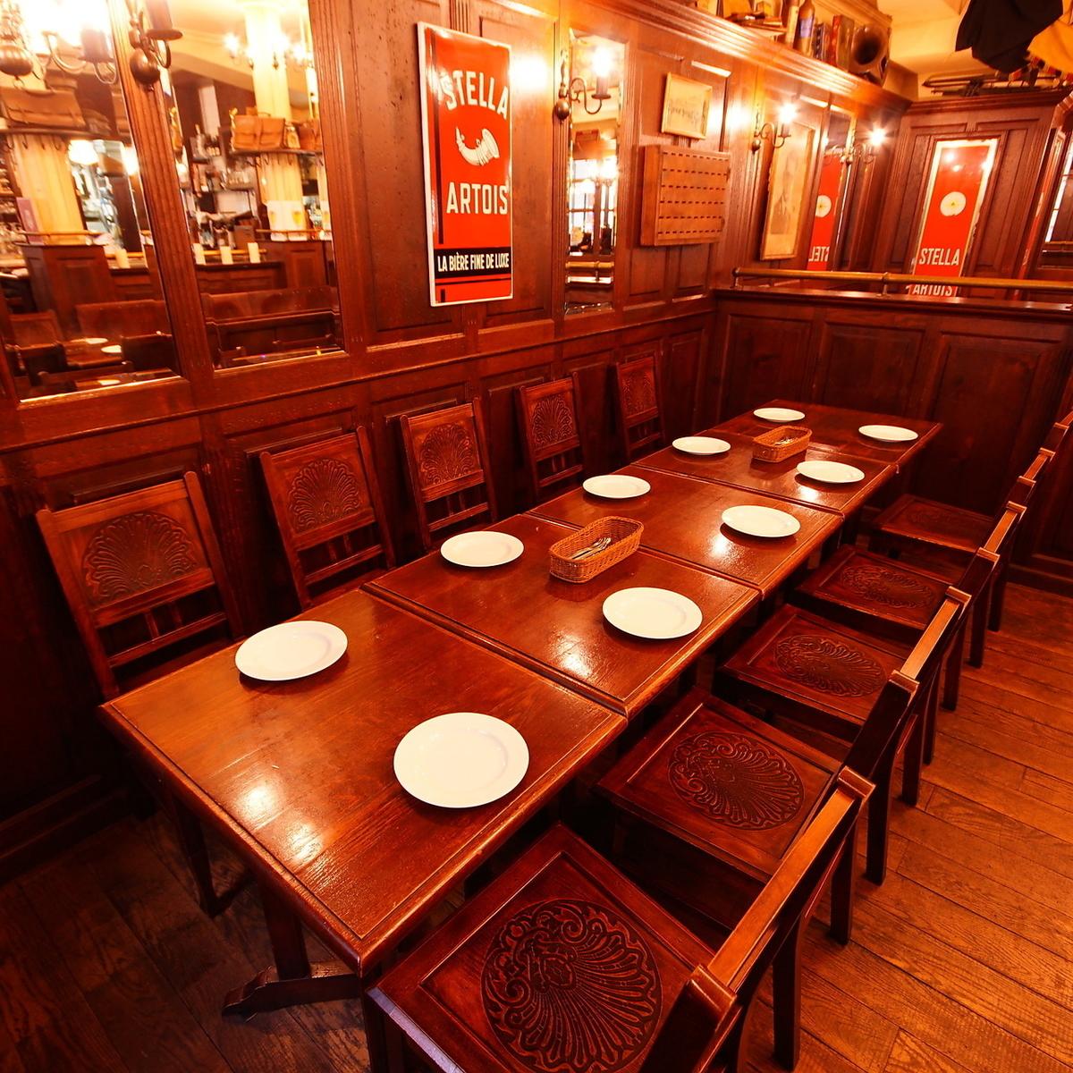 【~10人座位】是团体的座位。一张桌子最多可容纳10人。