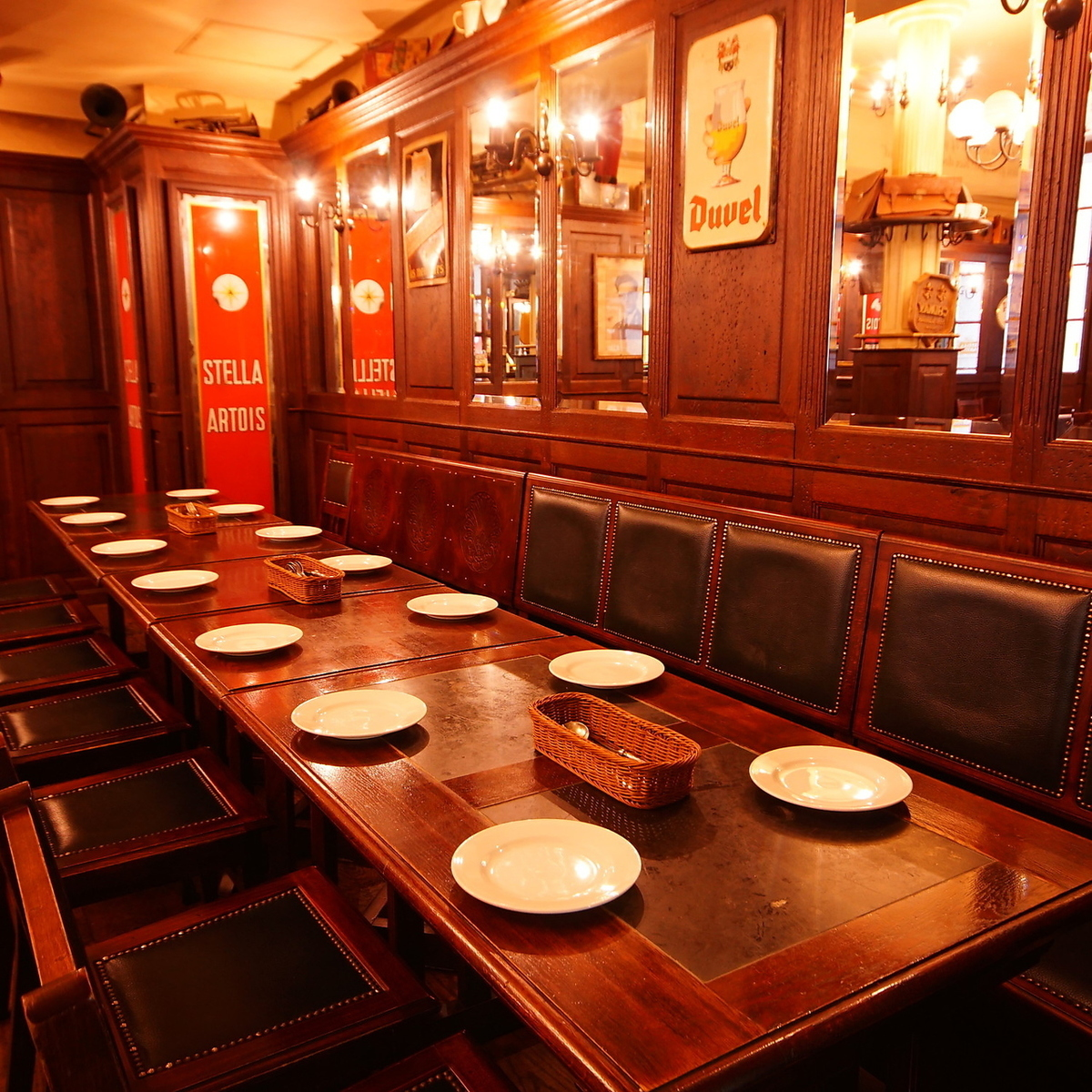 【~14人座位】是团体的座位。一排最多可容纳14位客人。