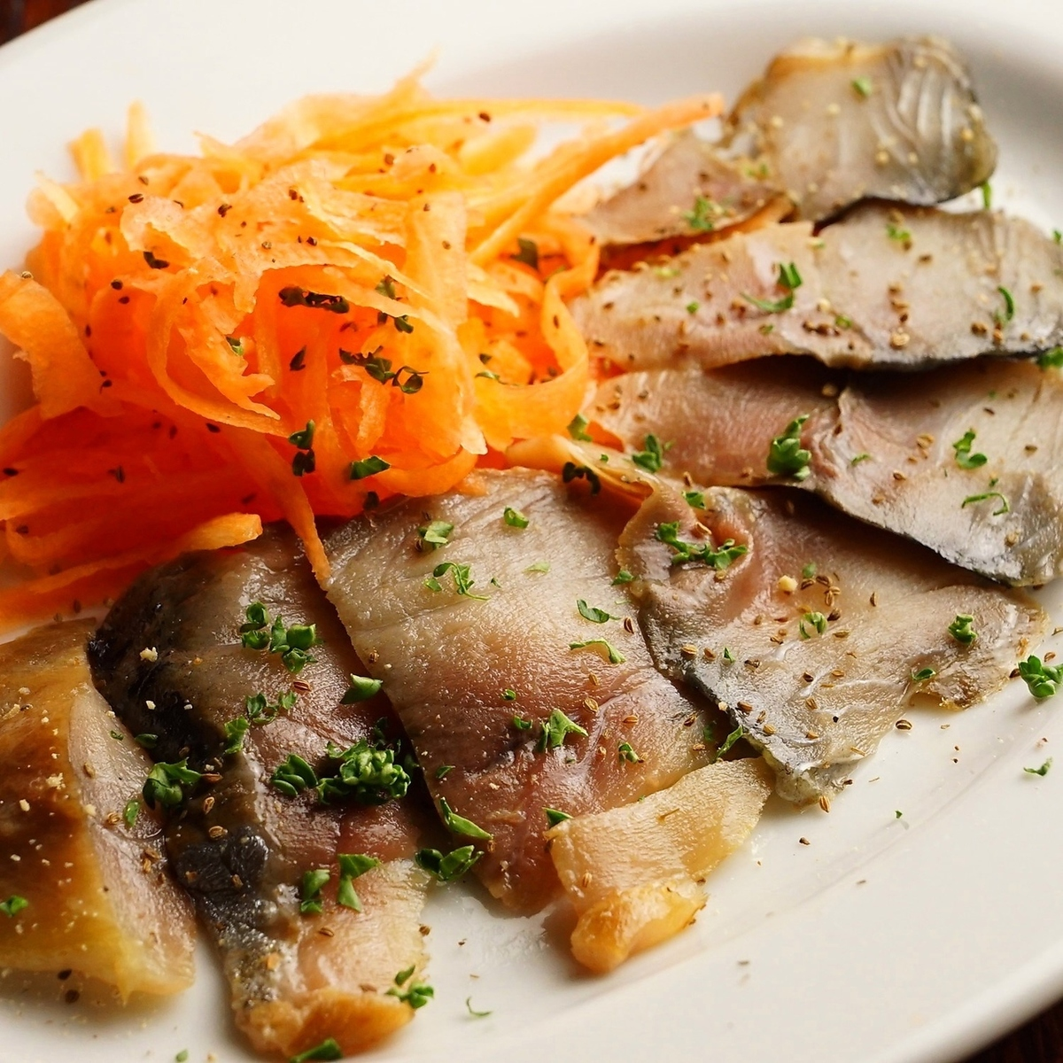 Capped herring with herring pickled rice