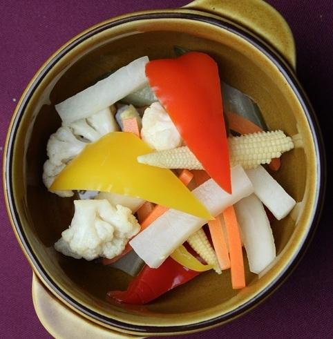Homemade pickles plenty of vegetables