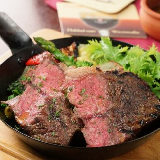 Selected carefully! 1855 Brand Black Angus Beef Misuji Steak 200 g ~ Sansapar Sharia pin sauce ~