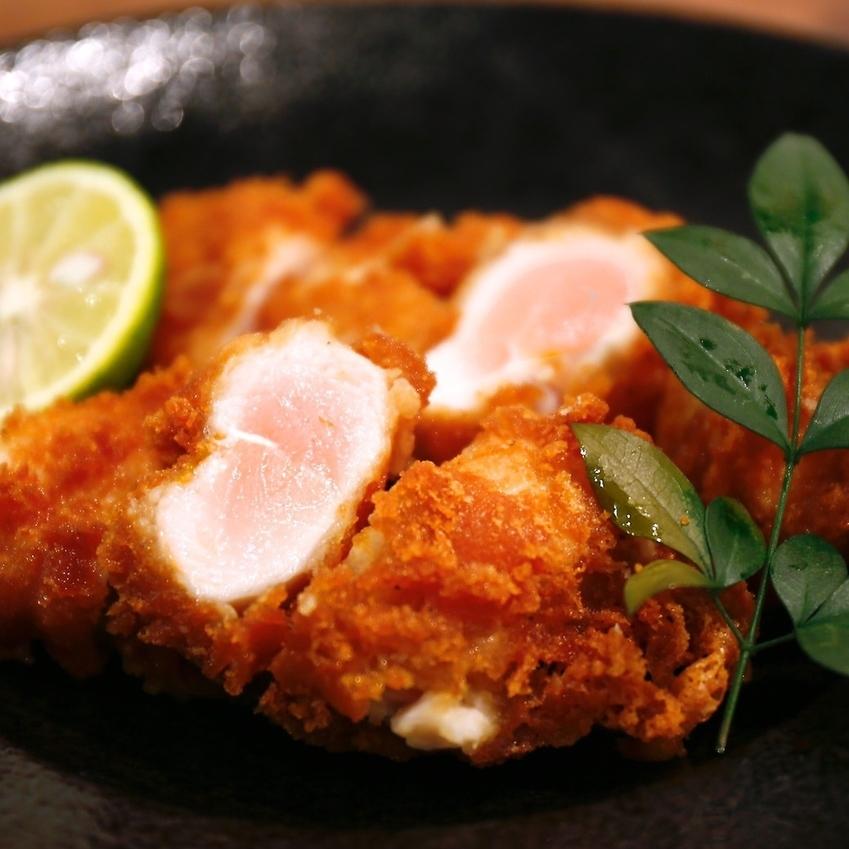 레어 닭 사사미 튀김