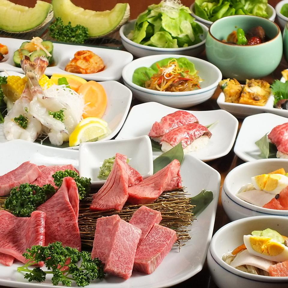 """與""""Mizunoki""""""""黑毛和牛牛肉""""的肉類藝術品"""