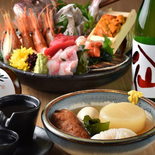 刺身・おでん・旨い日本酒