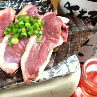 鴨の朴葉味噌焼き