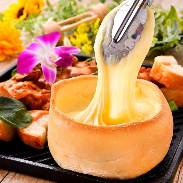 """SNS regulars!?"" Increase! Tonori Rin thick mozzarella × chicken × bread ⇒ Pannequin champagne all you can eat! 1980 yen ♪"