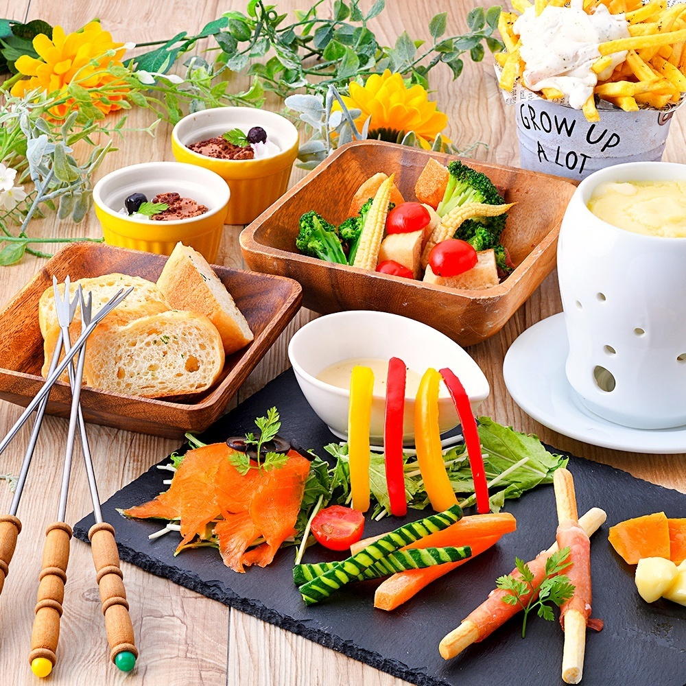 Enjoy cheese fondue ♪ Luncheon course <All you can drink for 120 minutes> 【5 items 2000】