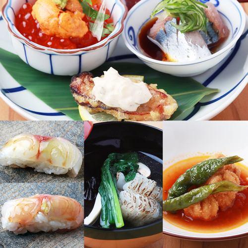お寿司も付く和食党を極めるコースは10,000円