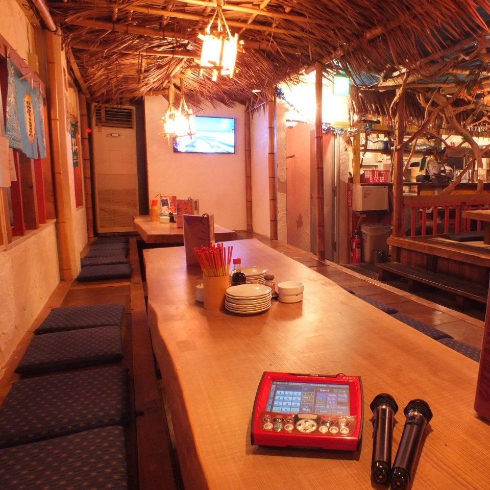 カラオケがついた3階の座敷宴会場で、楽しい飲み会を♪最大60名まで!
