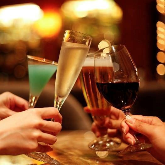 2 hours single item OK! All you can drink only Course 2500 yen ⇒ 1800 yen