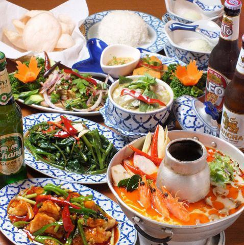 Enriched set menu [♪ you can taste authentic Thai food at a great price]