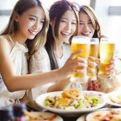 여성에게 대인기 ★ 7 종 3H 음료 뷔페 포함 건강한 여자 회 코스 3980 엔 ⇒2980 엔