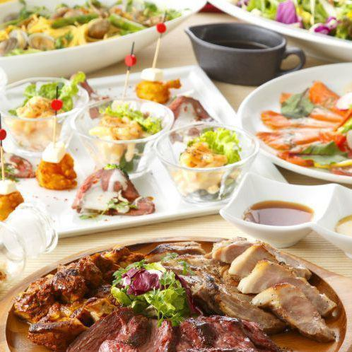 """HP only ★ """"Alloy special meat serving easy course"""" 2 hours all-you-can-drink all 10 dishes 4990 yen → 3990 yen"""